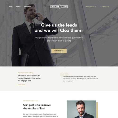 Website for Leadz2cloz company