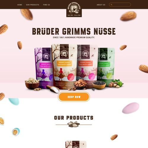 Brüder Grimms Nüsse Webseite