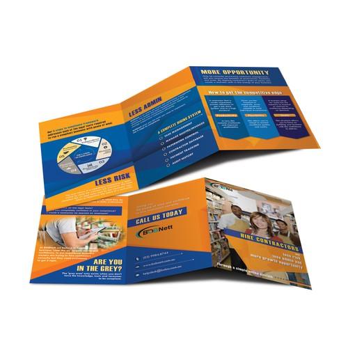 A5 trif-fold brochure