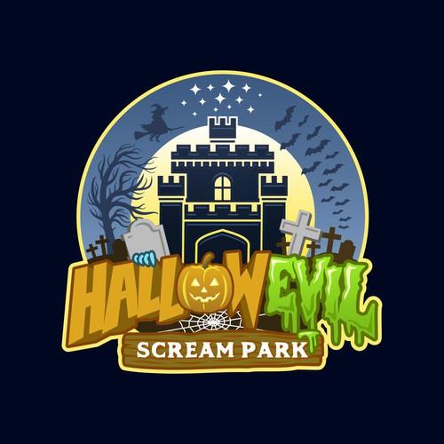 Horror Theme Park Logo Design
