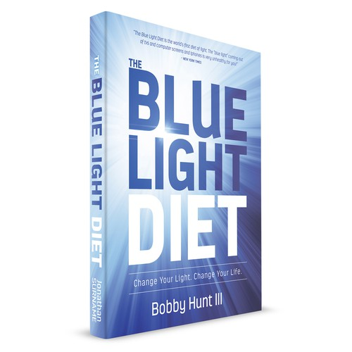 Winning entry for a diet book - The Blue Light Diet
