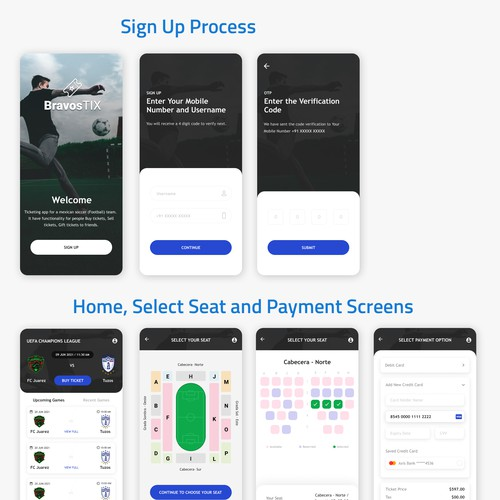 Sports ticket booking app