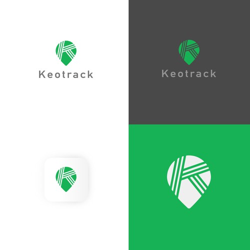 Logotype and pin for GPS tracking company
