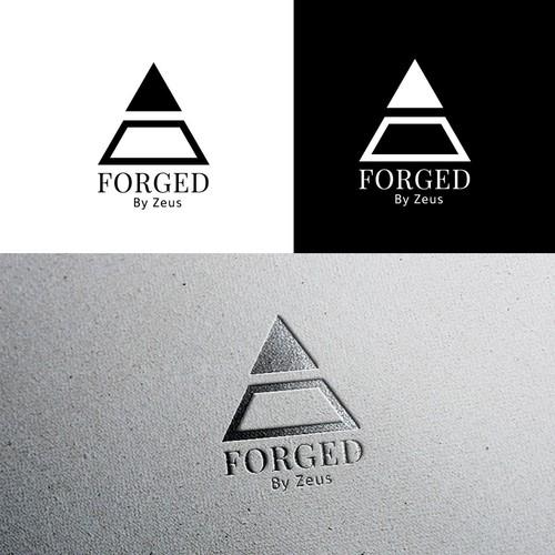 MEN's jewelry logo design ( FORGED)