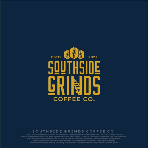 SOUTHSIDE GRINDS COFFEE.CO LOGO