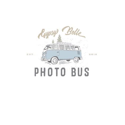 Vintage photo bus logo