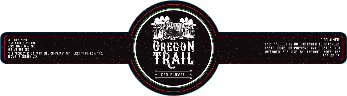 'oregon trail' labels for jars and cigarette boxes