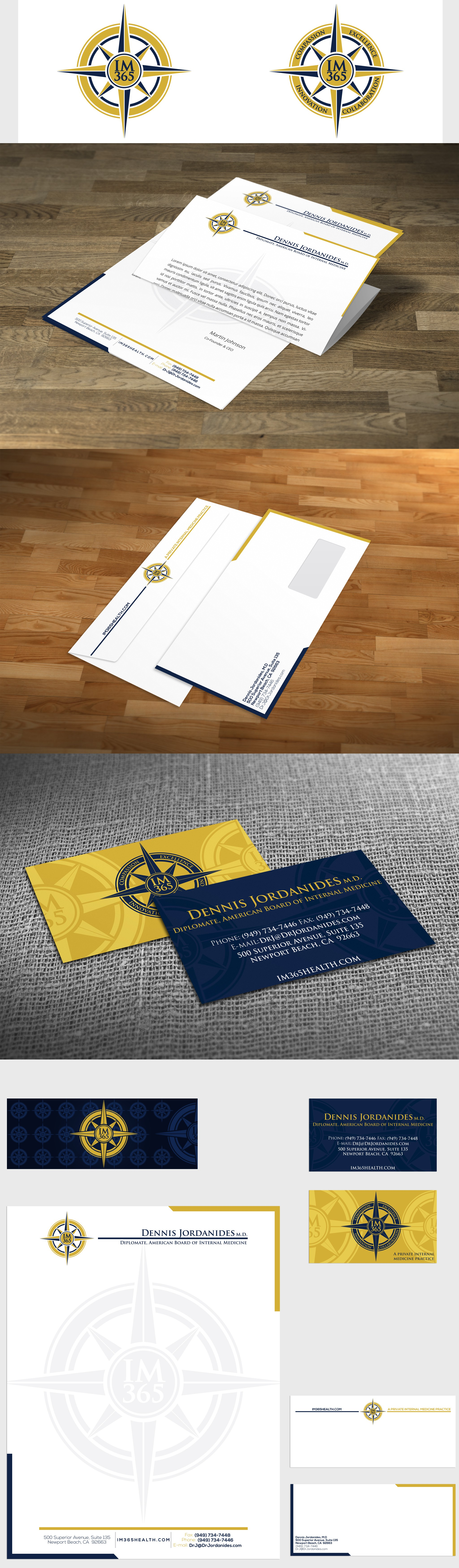 Brand ID pack: New Medical Practice!  Doctor is available 24/7/365.  Compass logo design!