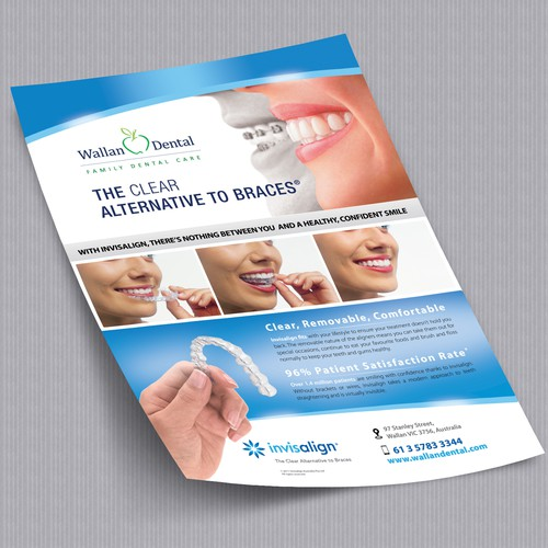 REDESIGN INVISALIGN TEETH STRAIGHTENING FLYER A4 SIZE