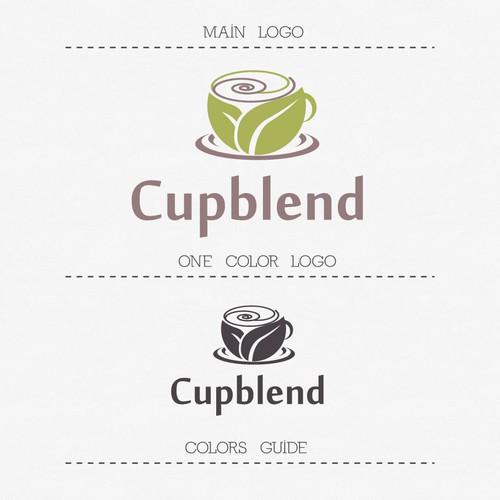 Logo for Cupblend, an online Tea business startup