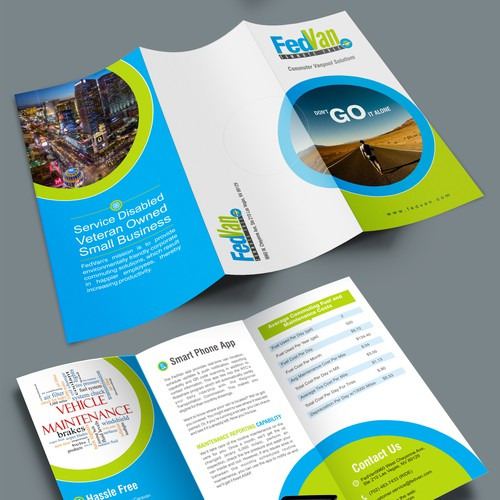 Brochure for vanpool company
