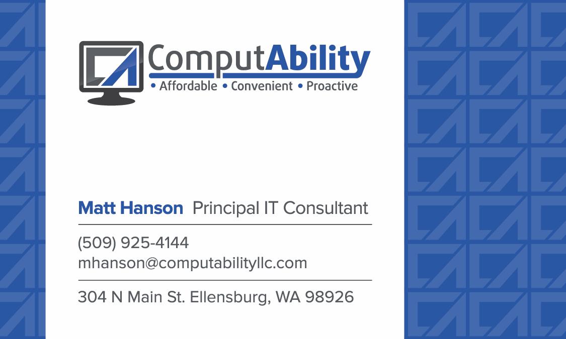 Business card design update