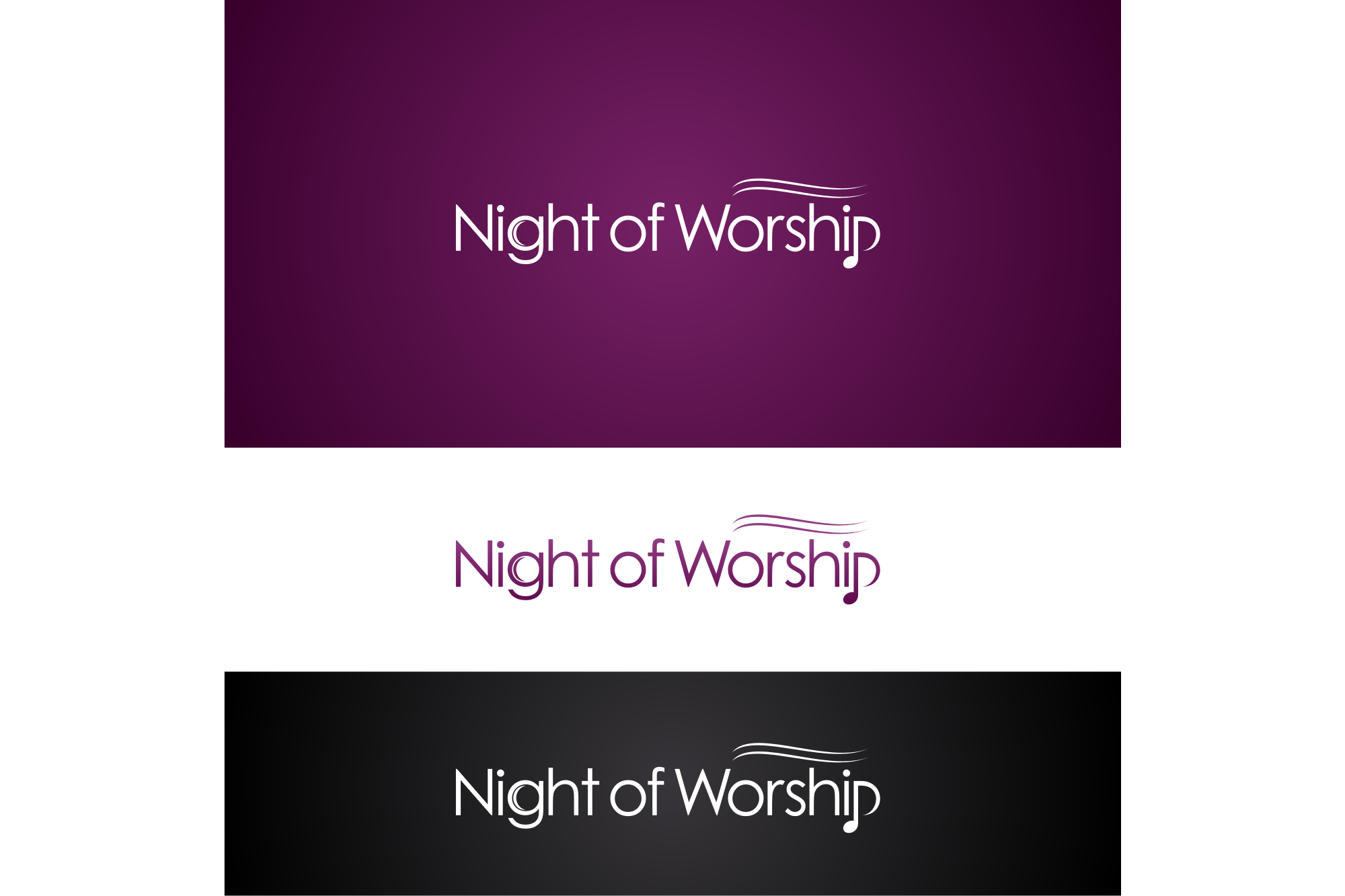 Help Night of Worship with a new logo