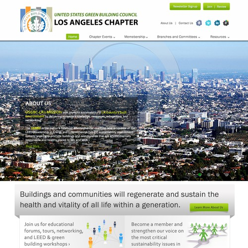 USGBC-LA.ORG  needs a new website design