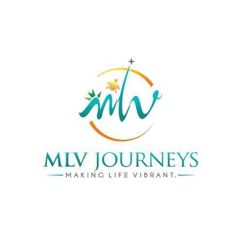 MLV Journeys VIBRANT logo design