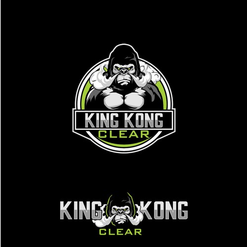 SILVERBACK OR GORILLA CARTOON CHARACTER vector for KING KONG CLEAR LOGO
