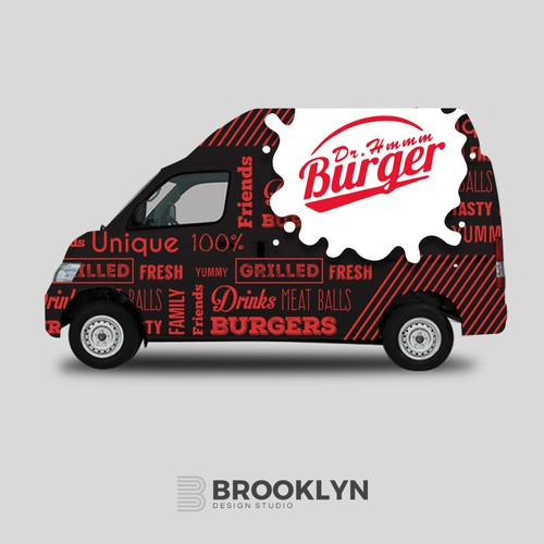 Burger Truck Wrap Design
