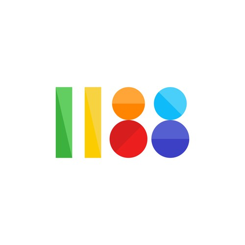 Colorful logo design for a digital agency called 1188