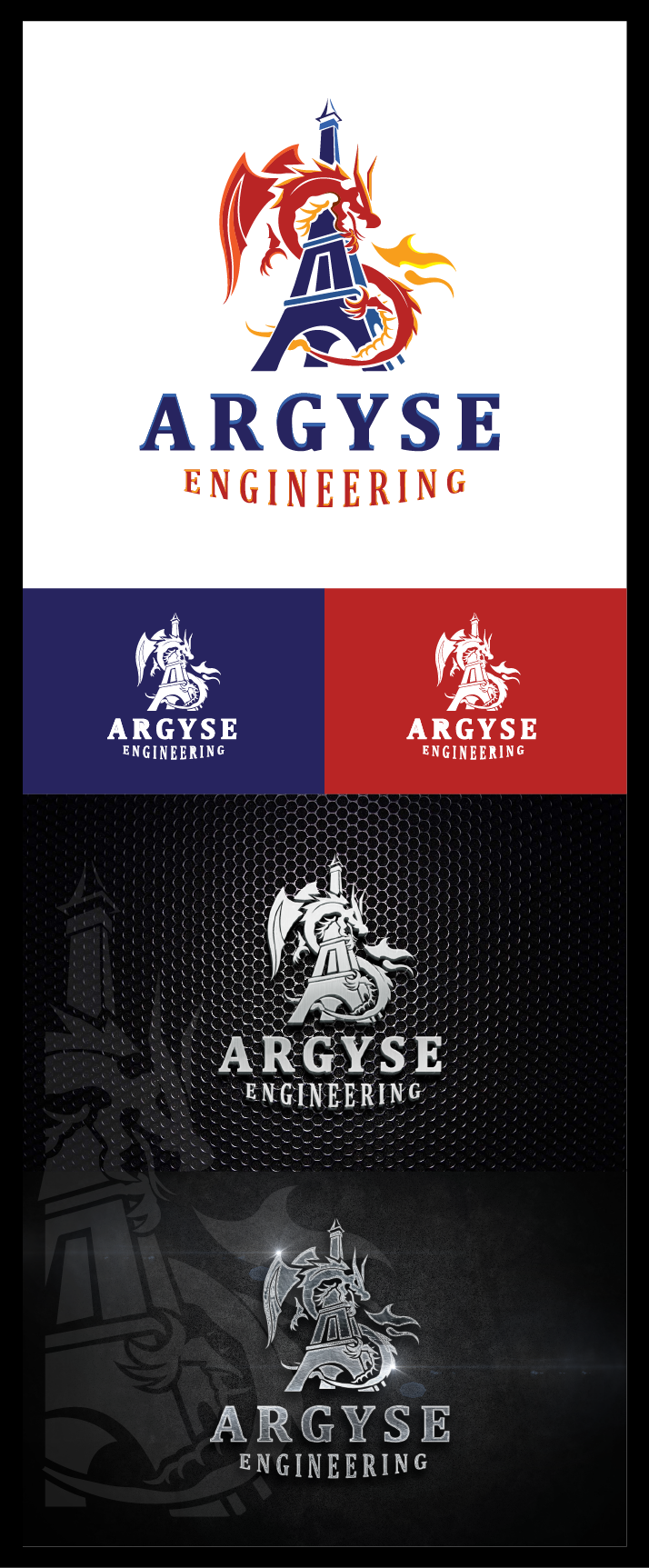 Create an Angry Dragon Logo for an Engineering Company