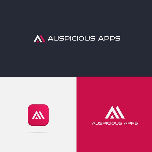 Auspicious Apps Logo design.