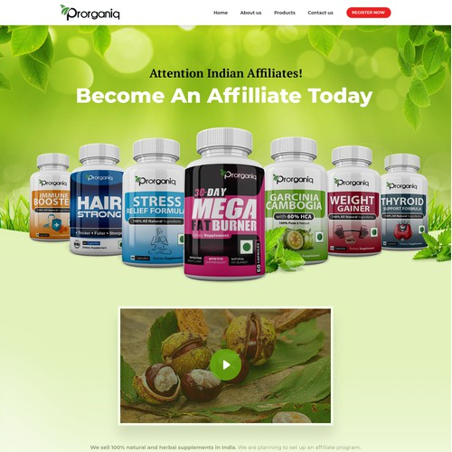 affiliate program page