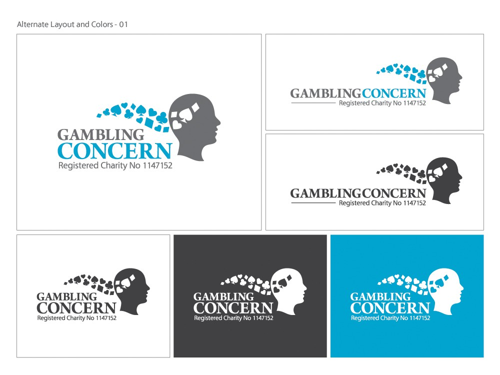 Gambling ADDICTION - smart logo for not for profit/charity