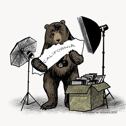 Bear mascot for a photography company
