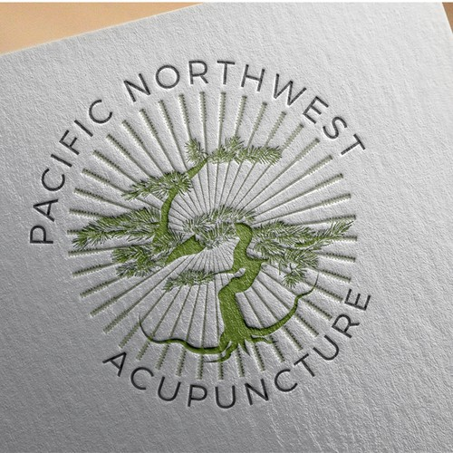 Tree logo for acupuncture