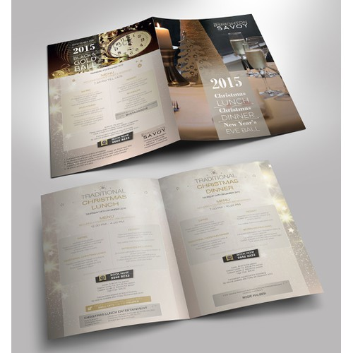 Christmas & New years eve Events Brochure