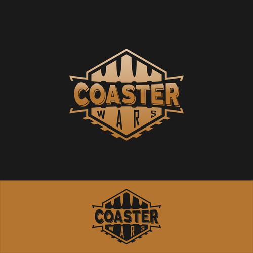 "Create a custom logo for ""Coaster Wars"""