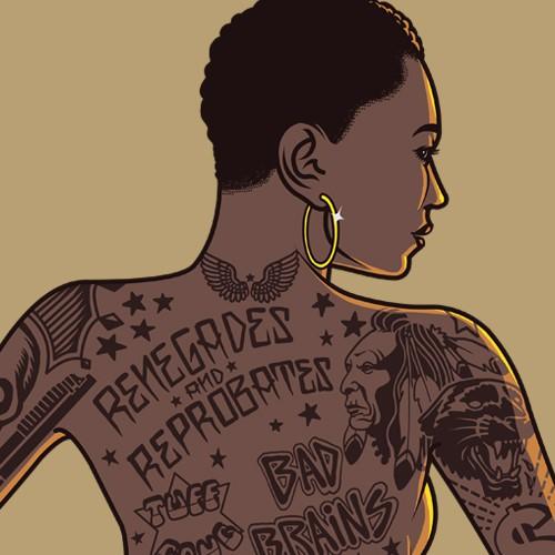 African American girl tattooed