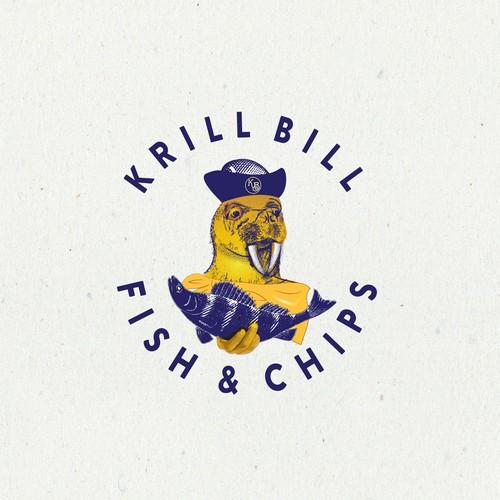 krill bill fish &chips logo