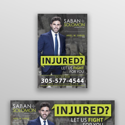 Law Firm Bus Shelter and bus side print design