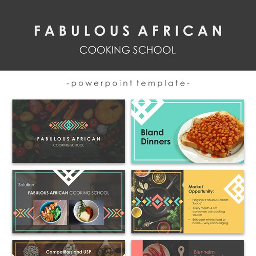 Powerpoint Template for Fabulous African Cooking School
