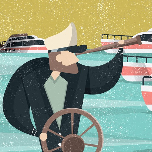 Yacht Theme Illustration