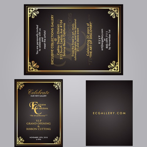 Invitation Card for Exclusive Collections
