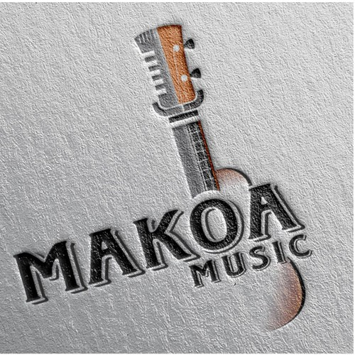 ukulele player logo for a brave brother sister
