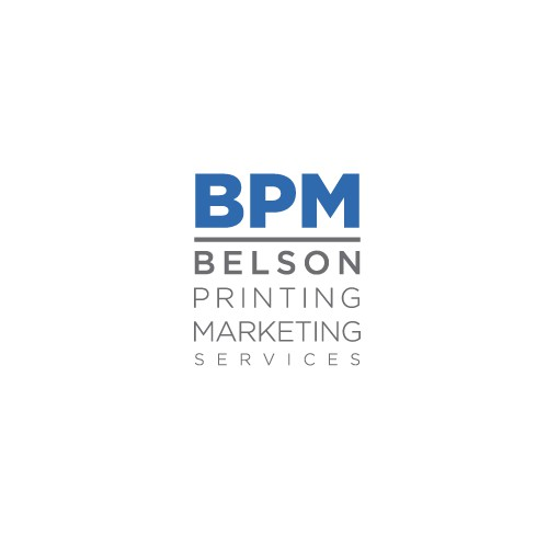Clean Modern Print and Marketing Services Logo