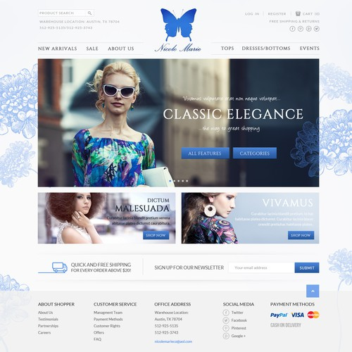 Design a Compelling Website for Nicole Marie Company!