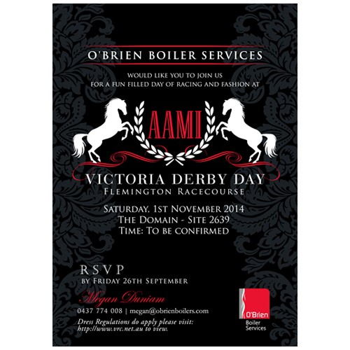 Classy Invitation for Major Race Day