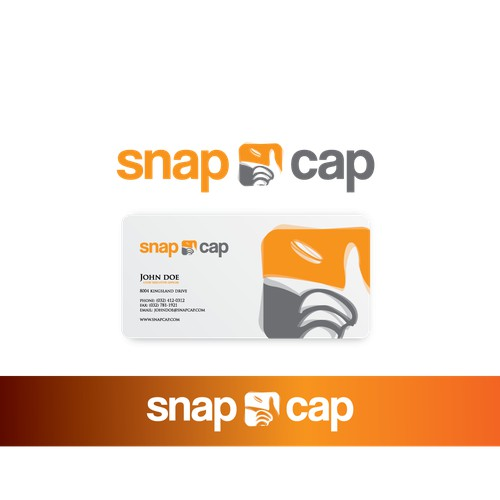 Create the corporate logo for Snapcap.com