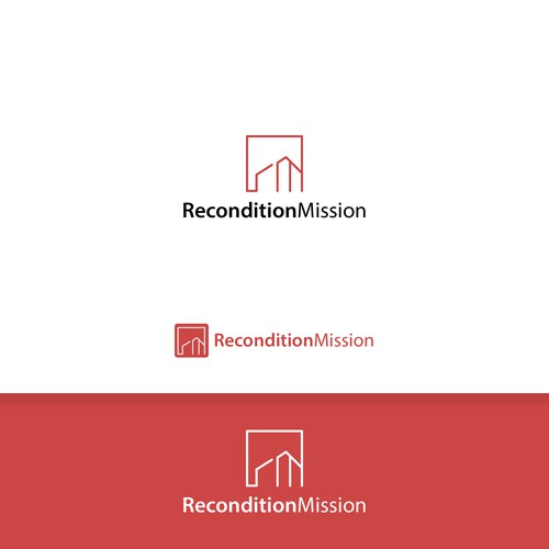 Simple and minimalist logo for Recondition Mission