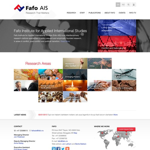 website design for Fafo AIS