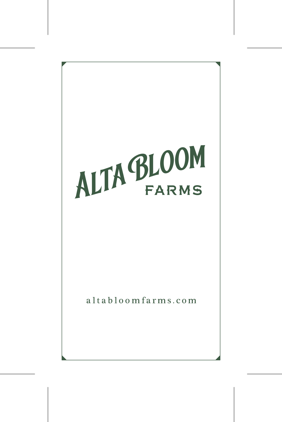 Business Cards: Alta Bloom Farms