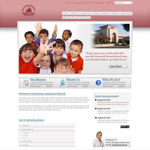 Non Profit Website Design -