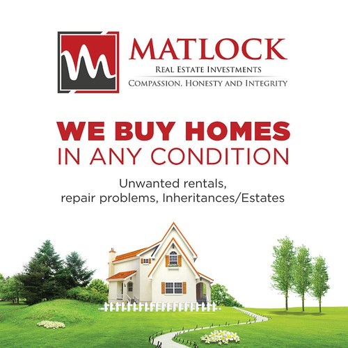 New postcard or flyer wanted for Matlock Real Estate Investments