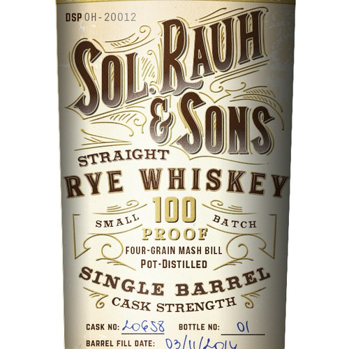Vintage Rye Whiskey Label