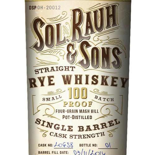 Vintage Rye Whiskey Label