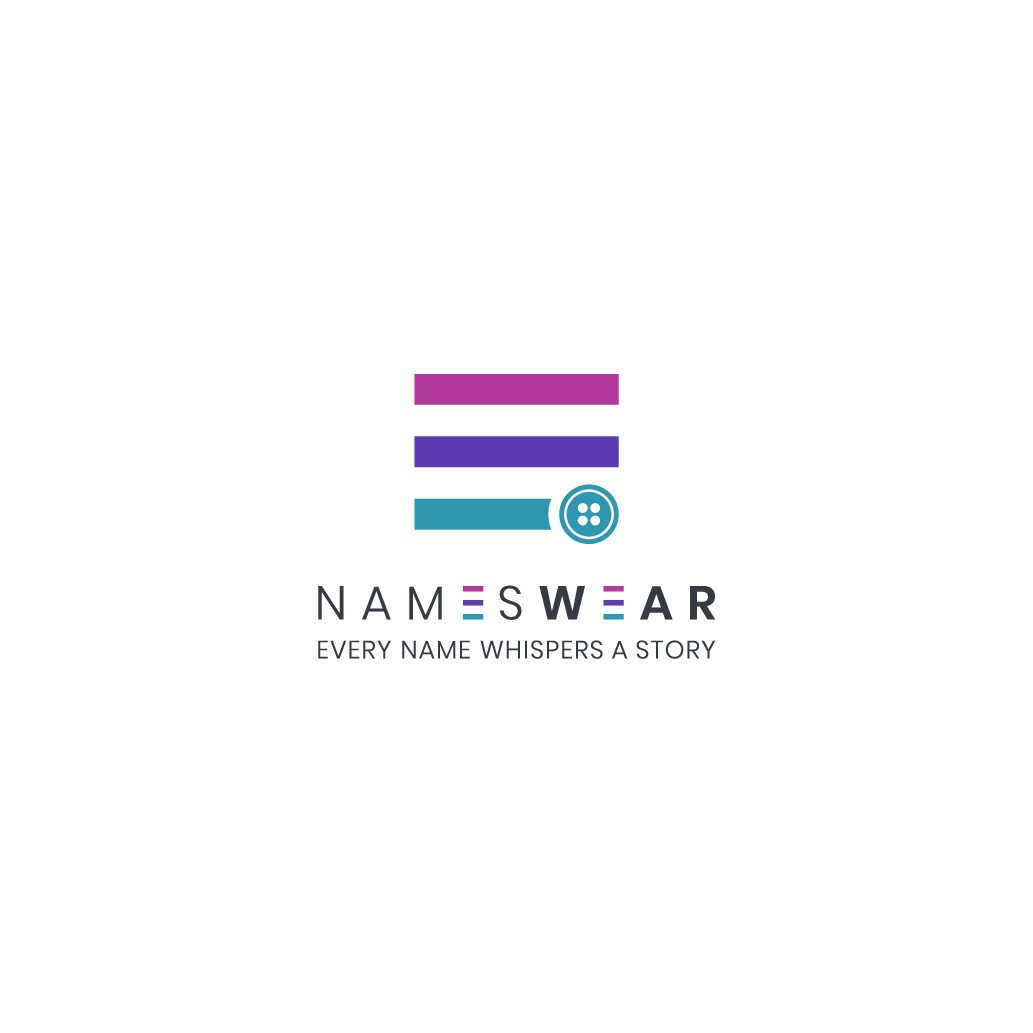 A creative logo for NamesWear.com that appeals to people's emotions.