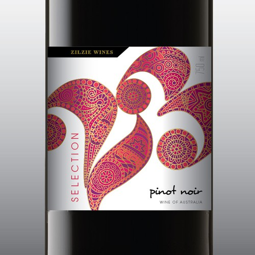 Modern wine label colection